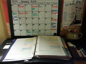 Command Central: Dry Erase Board and Loose Leaf Planner